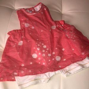 Clayeux France NWT coral bubble pantaloon dress 6M